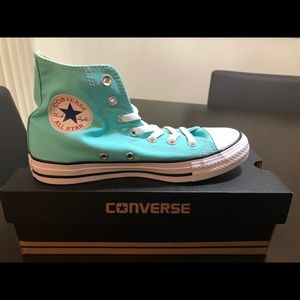 Converse Unisex high tops in turquoise